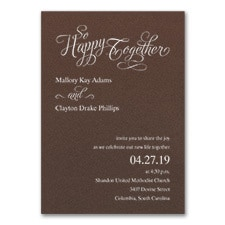 Happy Together - Invitation - Mocha Shimmer