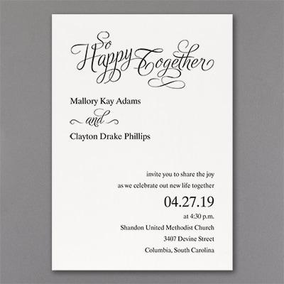 Happy Together - Invitation - White