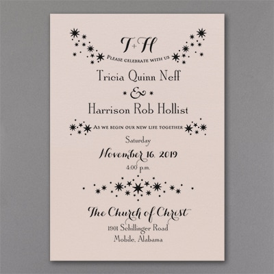 Enchanted Evening - Invitation - Pastel Coral Shimmer