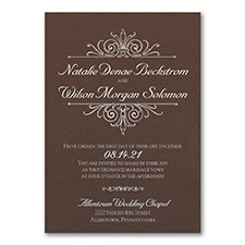 Regal Crest - Invitation - Mocha Shimmer