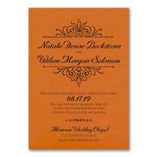 Regal Crest - Invitation - Orange Shimmer