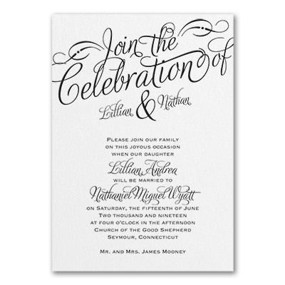 Dreamy Declaration - Invitation - White Shimmer