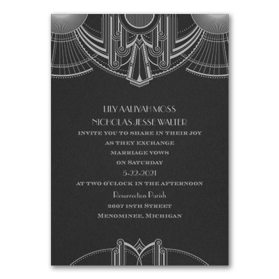 Deco Glamour - Invitation - Black