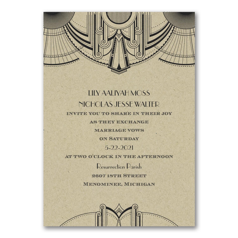 Deco Glamour - Invitation - Kraft > Wedding Invitations | Carlson ...
