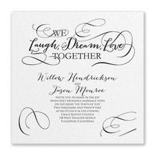 Wedding Invitation: Laugh, Dream, Love