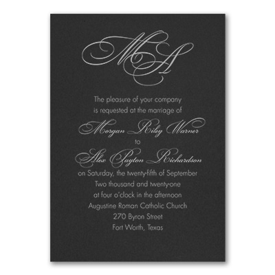 French Expressions - Invitation - Black