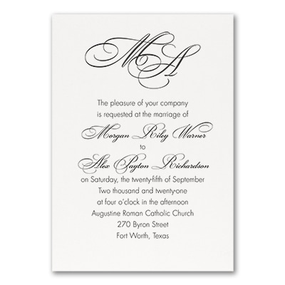 French Expressions - Invitation - White