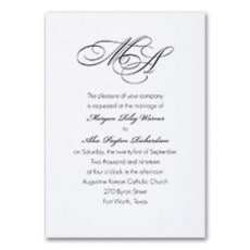 French Expressions - Monogram Invitation