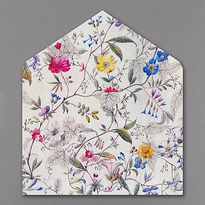 Botanical Print - Jumbo Liner - White