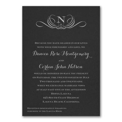 Preferential Design - Invitation - Black