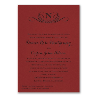 Preferential Design - Invitation - Claret