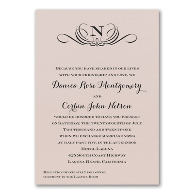 Preferential Design - Invitation - Pastel Coral Shimmer