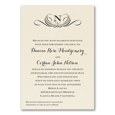 Preferential Design - Invitation - Ecru