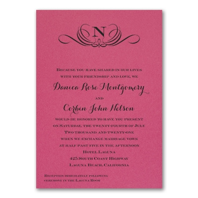 Preferential Design - Invitation - Fuchsia