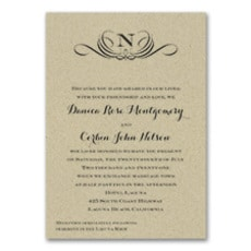 Preferential Design - Monogram Invitation