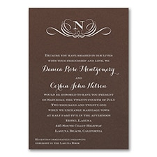 Preferential Design - Invitation - Mocha Shimmer