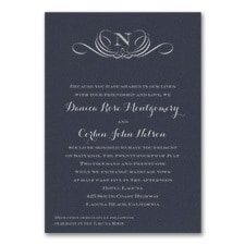 Preferential Design - Invitation - Navy