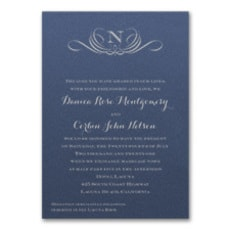 Preferential Design Invitation - Monogram Invitation
