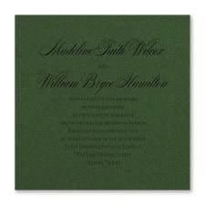 Serene Love - Invitation - Green Shimmer