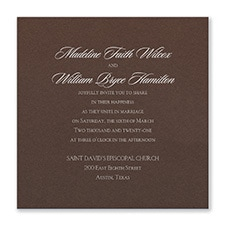 Serene Love - Invitation - Mocha Shimmer