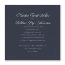 Serene Love - Invitation - Navy