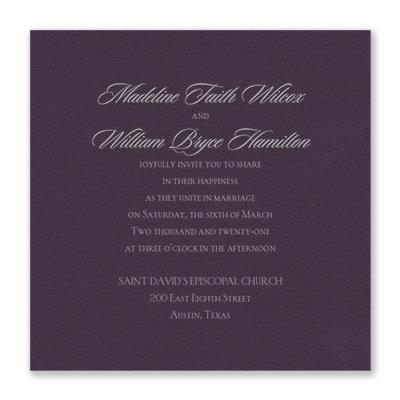 Serene Love Invitation Raisin Texture Wedding Invitations