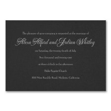 Timeless Sophistication Invitation - Black