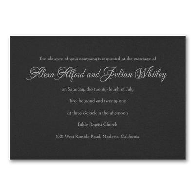 Timeless Sophistication Invitation - Black