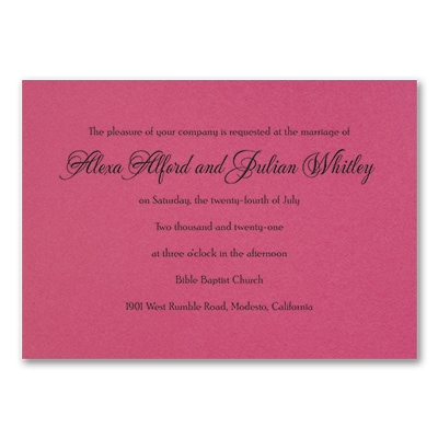 Timeless Sophistication - Invitation - Fuchsia