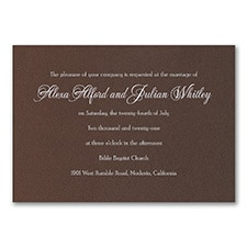 Timeless Sophistication - Invitation - Mocha Shimmer
