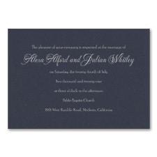 Timeless Sophistication - Invitation - Navy