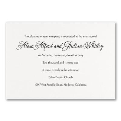 Timeless Sophistication - Invitation - White