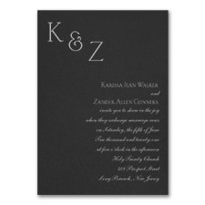 Sophistication - Invitation - Black