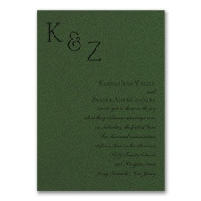 Sophistication - Invitation - Green Shimmer