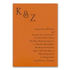 Sophistication - Invitation - Orange Shimmer
