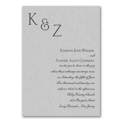 Sophistication - Invitation - Silver Shimmer