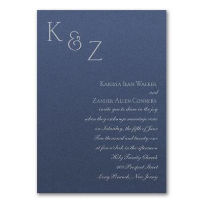 Sophistication Invitation - Sapphire Shimmer