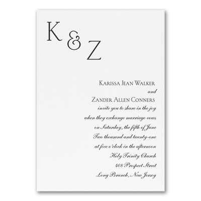 Sophistication - Invitation - White