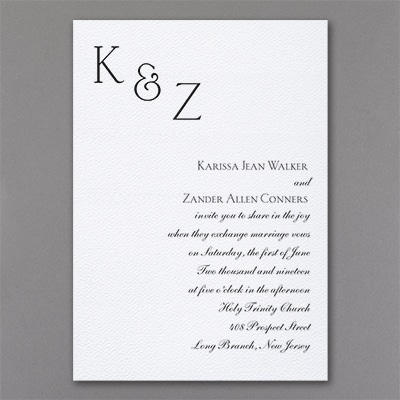 Sophistication - Invitation - White Texture