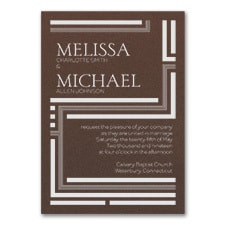 In Line - Invitation - Mocha Shimmer