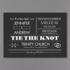 Vintage wedding invitation: Vintage Typography