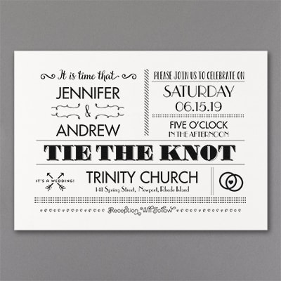 Vintage Typography - Invitation - White