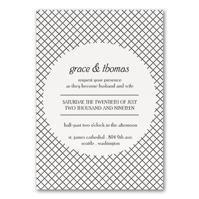 Deco Glam - Invitation - White