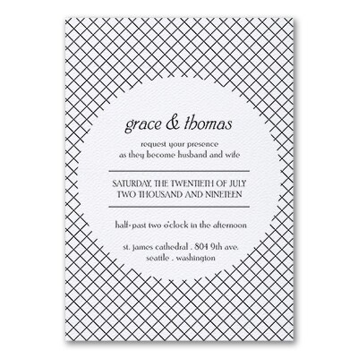 Deco Glam - Invitation - White Texture