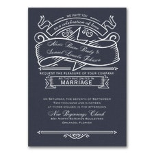 Love Celebration - Invitation - Navy