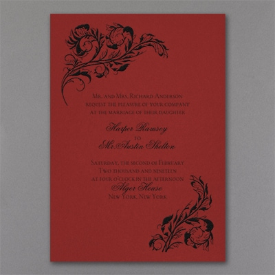 Elegant Touch - Invitation - Claret