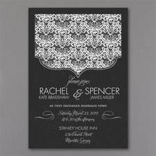 Vintage wedding invitation: Lace Crest