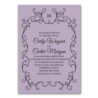 Whimsical Scrolls - Invitation - Lavender