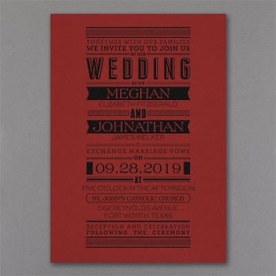 Typography Banner - Invitation - Claret
