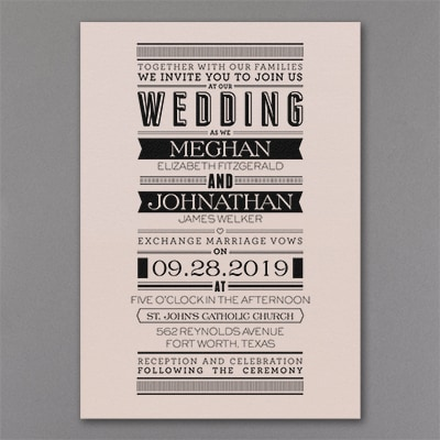 Typography Banner - Invitation - Pastel Coral Shimmer